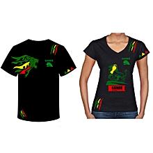 tee-shirt et body - col rond - col v 100 % coton - noir