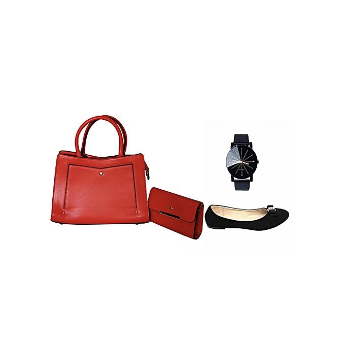 e9d1bedb11 Sac à Main Femme avec Pochettes + 1 Ballerine + Montre vintage (ballerines  au choix
