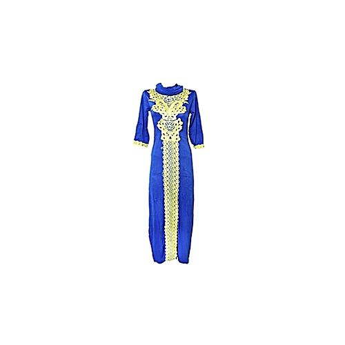 White Label Robe Marocaine en coton + foulard bleu - Prix pas cher ... 104126930e8