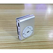 mini fashion portable metal clip mp3 player single card mp3-silver