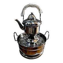 bouilloire laveuse de main avec pot - 2 litres - en inox