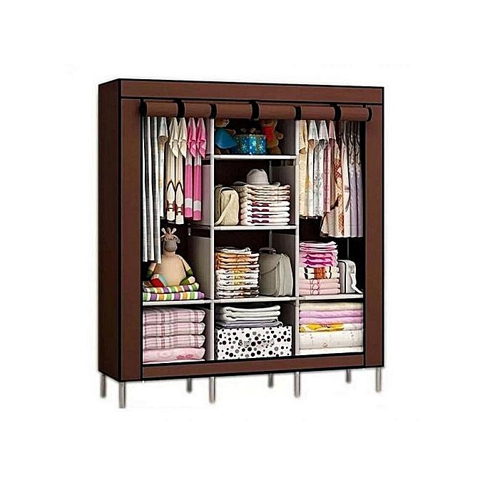 white label armoire penderie 3 battants 130 x 45 x 175. Black Bedroom Furniture Sets. Home Design Ideas