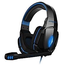 g4000 pro gaming headset stéréo son 2.2m casque filaire (noir bleu)