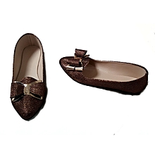 chaussures ballerines pour femme bout pointu avec noeud
