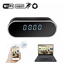 horloge caméra espion - wifi - noir