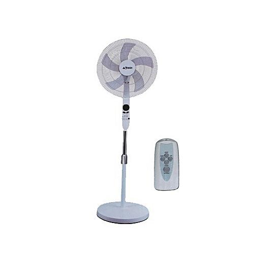 white label ventilateur sur pied avec t l commande ultra performant 16 noir garantie 2. Black Bedroom Furniture Sets. Home Design Ideas