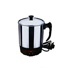 bouilloire electrique - nickel - 1 litre - gris