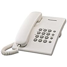 téléphone fixe - blanc - timed flash - kx-ts500fx