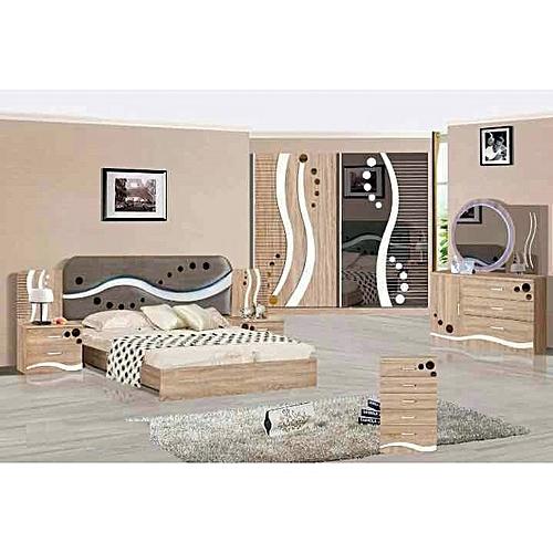 Chambre A Coucher Design white label chambre à coucher - design moderne - avec lumière led