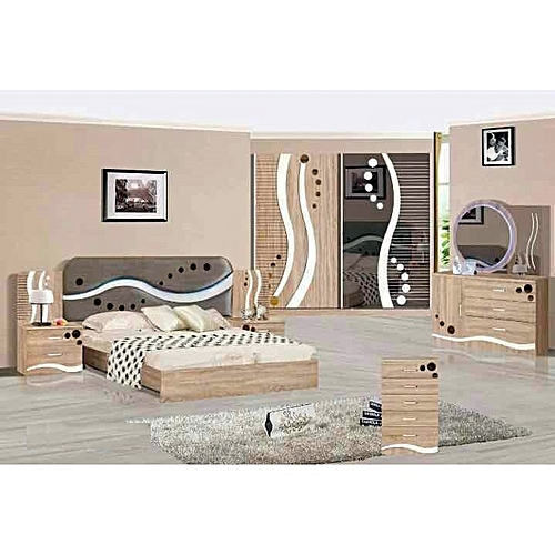 White label chambre coucher design moderne avec lumi re led 180 x 200 prix pas cher - Design chambre a coucher ...