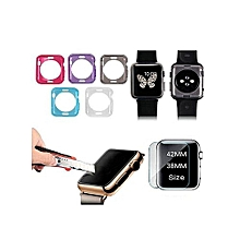 crystal clear transparent soft tpu gel protective case cover for smart apple watch iwatch