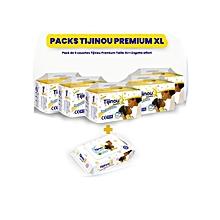 5 pack 22 couches 12/21 kg + 80 lingettes pour bébé