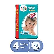 78 couches bébé little angels - taille 4