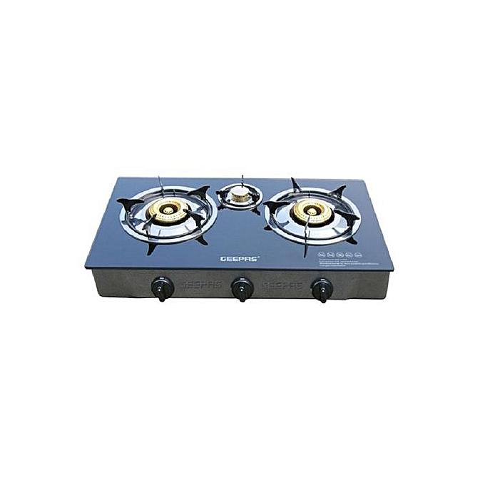 geepas plaque de cuisson gaz 3 feux gk4281 prix pas. Black Bedroom Furniture Sets. Home Design Ideas