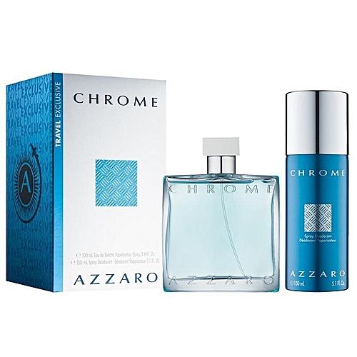Azzaro Coffret Azzaro Chrome Eau De Toilette 100ml Et Deodorant
