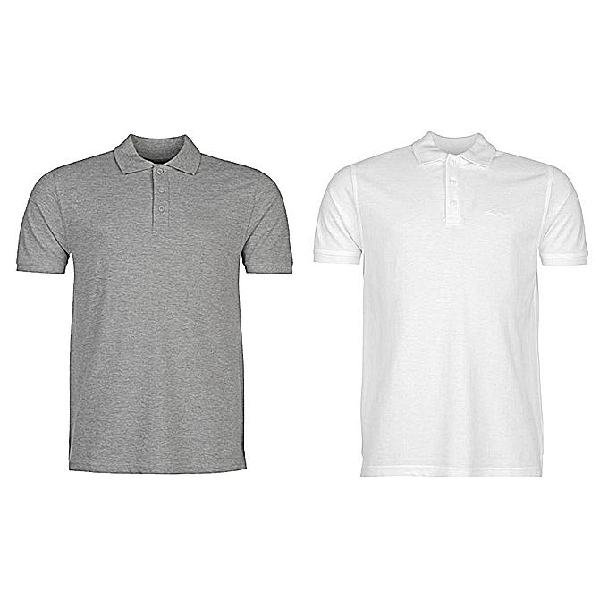 White Label Lot de 2 Polos - Manches Courtes - Coton Polyester ... 3ddd755abe93