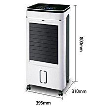 ventilateur clim à eau noir et blanc + congélateur à glace