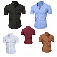 pack 5 chemises - manches courtes - multicolore