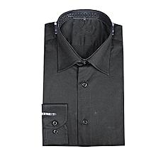 chemises homme longues manches - noir