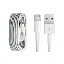cable iphone 1,5m. x 8 7 7+ 6s 6 se 5s 5c 5 chargeur usb data synchro lightning 8 pin - blanc