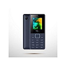 itel it2160 - dual sim,  1.77 pouces - 1.3 mégapixels - 4 mb ram - 4 mb rom , battery 1000mah , fm , lampe torche- dark-blue