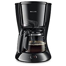 machine à café hd7447 avec verseuse en verre - 1,2l - noir