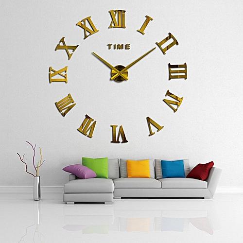 white label horloge murale taille large dor e avec des. Black Bedroom Furniture Sets. Home Design Ideas