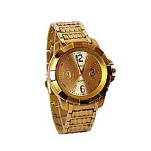 montre plaquée - bracelet pour homme - doré
