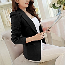 new slim short small suit ladies jacket female wild casual suit-black