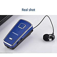 fineblue f970 portable dans l'oreille sans fil bluetooth cou clip type télescopique business sport écouteur vibration wear clip 2018 bleu