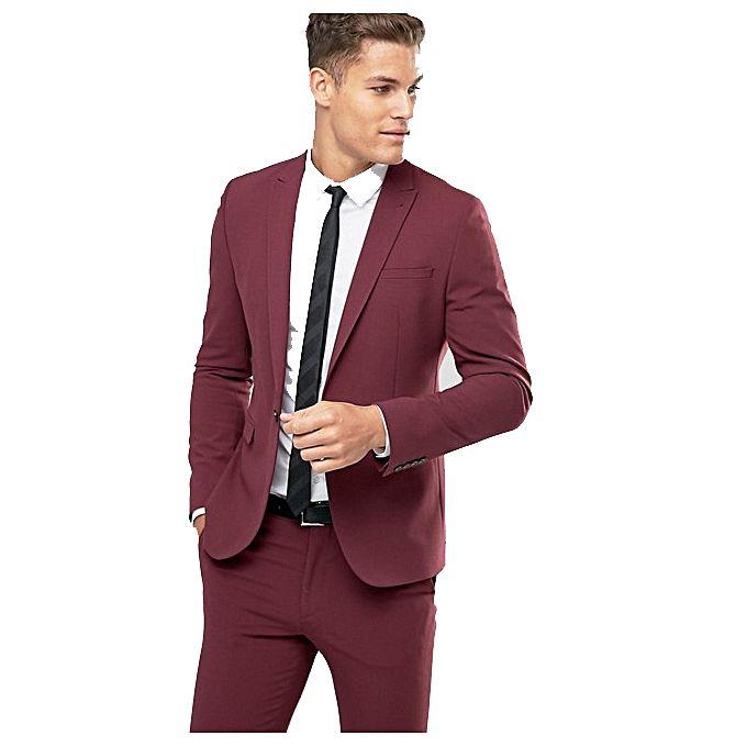 Offre sp ciale costume rouge bordeaux veste pantalon jumia s n gal costumes cravates - Costume homme rouge bordeaux ...