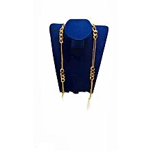 collier sautoir en plaqué or