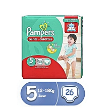 pampers couches-culottes  baby-dry pants taille 5 (12-18kg) - 26  couches