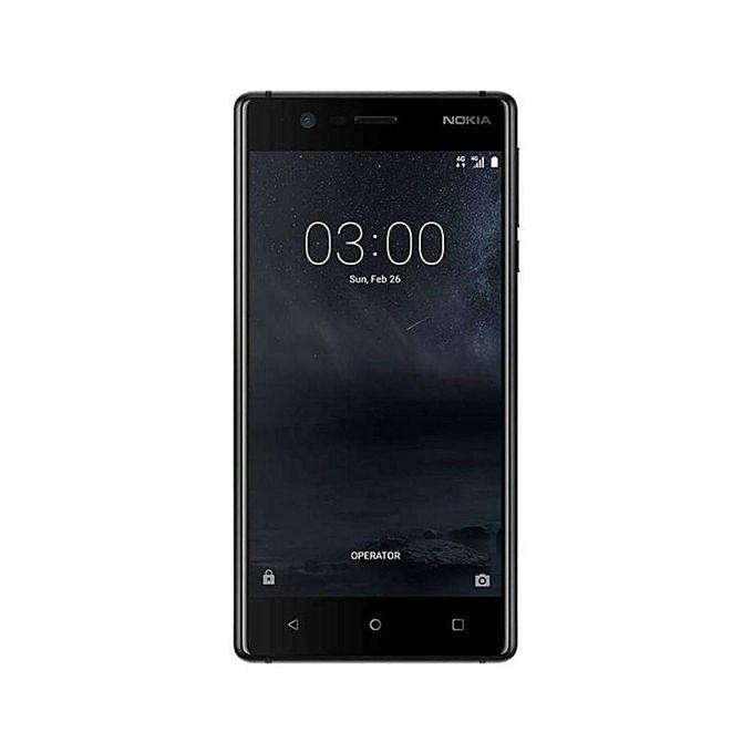 nokia nokia 3 4g 5 pouces 16 go ram 2 go android 7 0 batterie 2630 mah noir. Black Bedroom Furniture Sets. Home Design Ideas