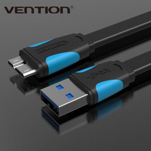 Micro USB 3.0 câble synchronisation des données câble de charge rapide USB 3.0 câble de téléphone portable pour Samsung Note3 S5 Toshiba disque dur(white 25cm)