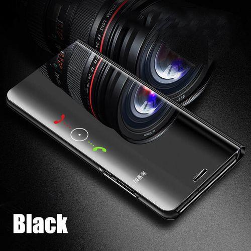 De Cas de chiquenaude Permanent Pour Samsung Galaxy A50 A30 A40 A10 A20 A70 A90 Étui En Cuir Pour Samsung S8 S9 S10e s10 Plus S7 bord Note 8 9(Bla)