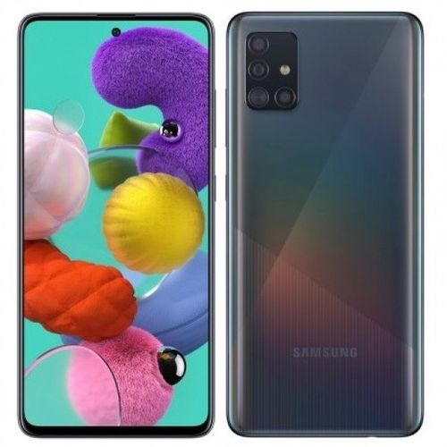 """Galaxy A51- Ecran 6.5"""" - 4Go RAM - 128 Go ROM - Quatre camera 48+ 12+ 5 + 5 Mégapixels - Batterie 4000 mAh - Prism Crush Noir"""