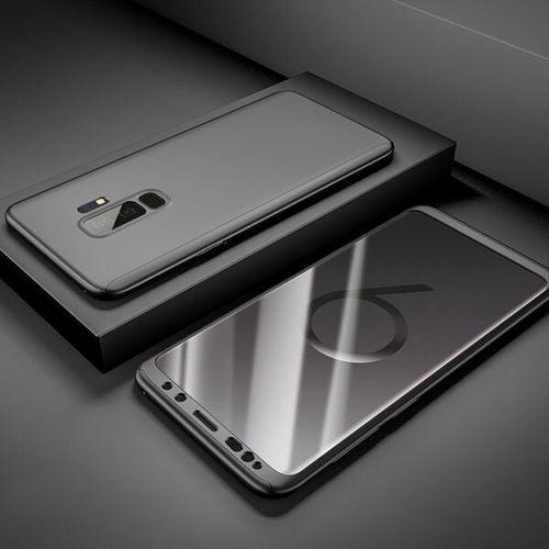 360 Pleine Couverture de Téléphone Antichoc étui pour samsung Galaxy S9 S8 S7 Note 9 8 S10 J4 J6 A6 Plus J8 A9 A7 A8 A30 A50 A70 A60 A40 Cas(Bla)