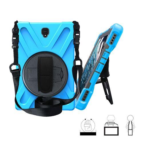 Étui pour samsung Galaxy Tab S4 10.5 SM T830 T835 T837 tablette enfants peau sûre antichoc armure couverture rigide + dragonne et sangle de cou(#Sky Blue)