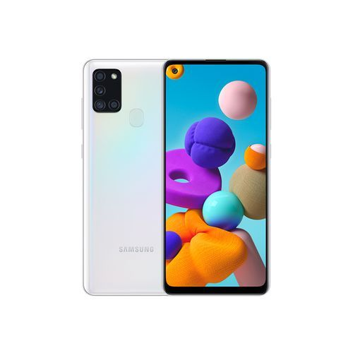 "Galaxy A21s - 4G - Ecran 6.5"" - RAM 4Go - ROM 64Go - Caméra 48+8+2+2MP - 5000mAh - Blanc"