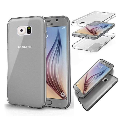 Double Silicone étui pour samsung Galaxy S5 S6 S7 Bord S8 S9 Plus A3 A5 A6 A8 J3 J4 J5 J6 J7 Neo 2018 2017 2016 Grand Prime G531(Gray)