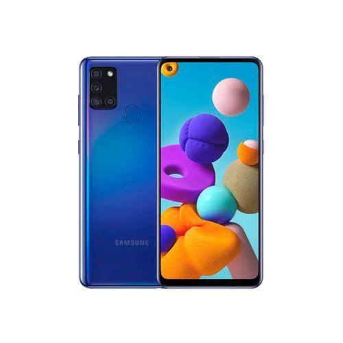 """Galaxy A21s - 4G - Ecran 6.5"""" - RAM 4Go - ROM 64Go - Caméra 48+8+2+2MP - 5000mAh - Bleu"""