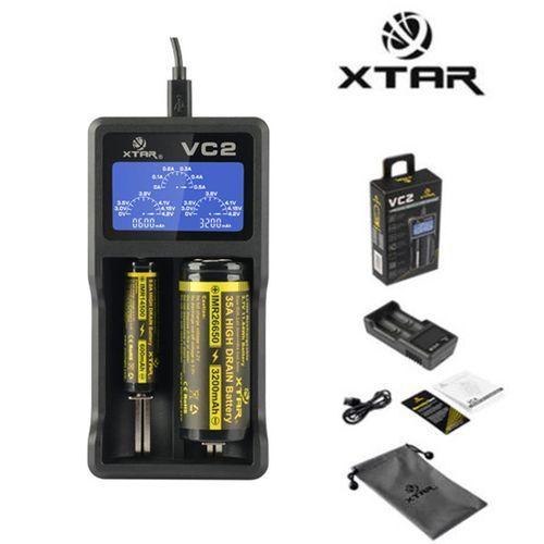 Xtar VC2 USB Li-ion Battery LCD Charger For 3.7V 10440 18650 26650 Batteries