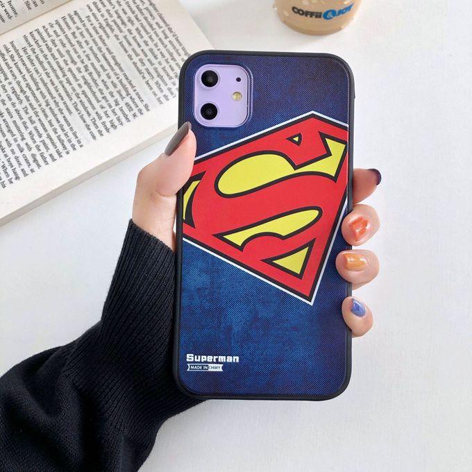 3D Hero étui pour IPhone 11 Pro Max XS XR étui en Silicone souple pour IPhone 11 Pro X 8 7 6 6S Plus couverture Batman Superman(#Superman) HON