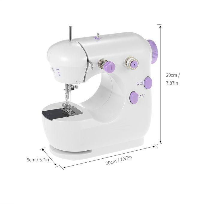Électrique Portable Machine à coudre Lumière DEL 12 Stitch Réglable Vitesse Pédale