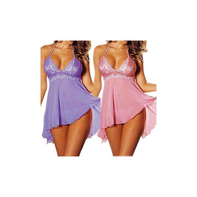 couleur violet UK Rapide Envoi Babydoll lingerie
