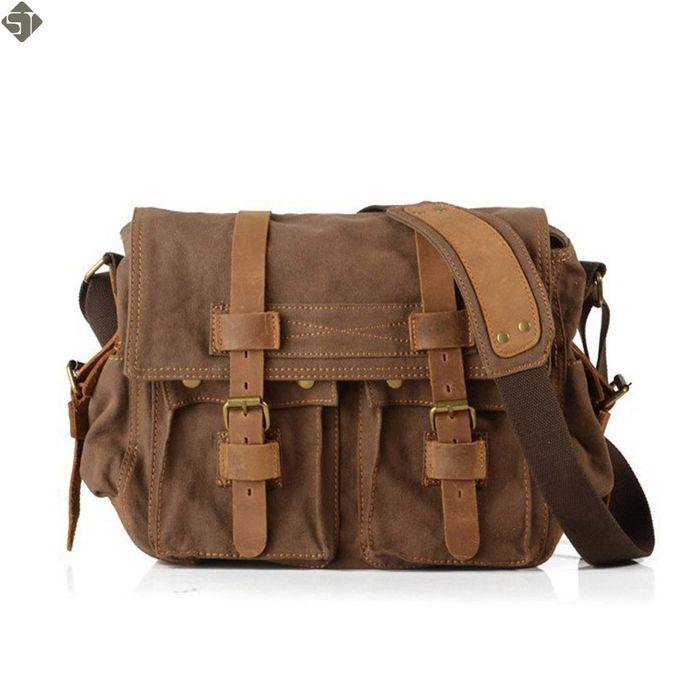 Hommes messenger sacs rétro toile sac hommes haute qualité outdoor