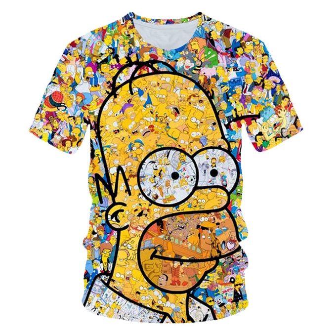 Generic Nouveaux Hommes Femmes Obesite T Shirt Simpson Imprimer 3d T Shirt Harajuku Dessin Anime Drole Simpsons T Shirt Col Rond A Manches Courtes T Shirt Decontracte Prix Pas Cher Jumia Sn