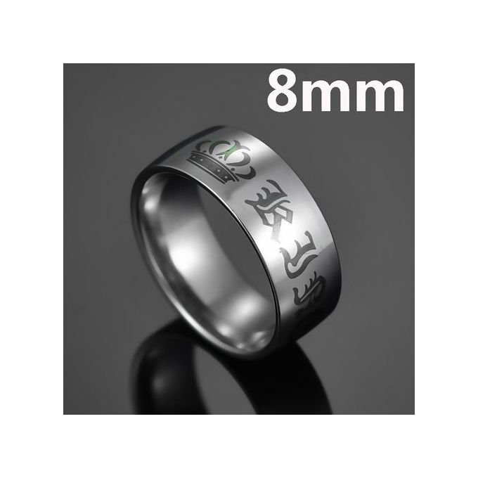 Elsemode 1piece Titanium Vintage King Queen Diy Engraved Couple Ring Romantic Engagement Wedding Rings For Men Women Jewelry 8mm King