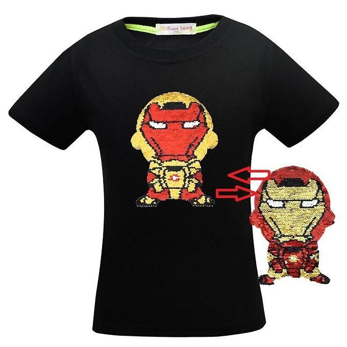 Generic Avengers Endgame Super Heros T Shirt Enfants Garcon Double Face Flip Paillettes Changement De Couleur T Shirt Enfants Bebe Vetements D Ete Cool Bla Prix Pas Cher Jumia Sn